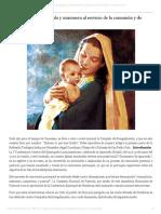 """""""María, Primera Discípula y Misionera Al Servicio de La Comunión y de La Vida"""" _ Semanario FIDES"""