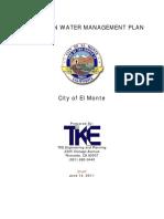 2010 URBAN WATER MANAGEMENT PLAN CITY OF EL MONTE