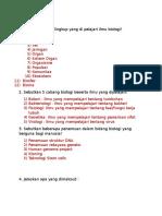Soal & Jawaban Latihan UTS Biologi
