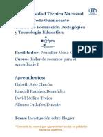 Investigación Blogger