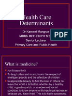 3.Health Care Determinants