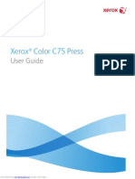 Xerox c75 Press Manual