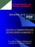 La Administracion de Recursos Humanos