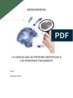 MONOGRAFIA CIENCIA DACTILOSCOPICA