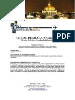 (Armenia Tours)(Paquete)Ciudad de México y Cancún 17 Agosto 22 Dic 746.USD
