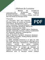 Francique Rhénan de Lorraine