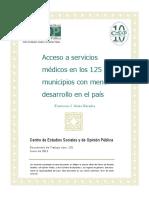 Servcios Medicos 125 Municipios Menos Desarrollo Docto135