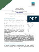 Caso 17 Territorio de Lomerío Del Refugio a La Autonomía Indígena
