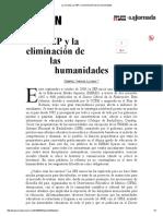 La SEP y La Eliminación de Las Humanidades