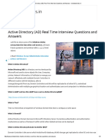 Active Directory (AD) Real Time Interview Questions and Answers – Windowstricks