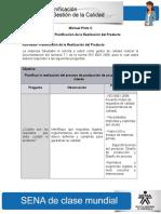 Entregar Actividad de Aprendizaje Unidad 4 Planificacion de La Realizacion Del Producto