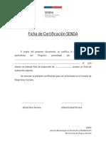 ANEXO E Ficha de Certificación SENDA