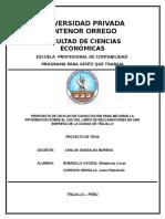 LIBRO DE RECLAMACIONES EN UNA EMPRESA DE LA CIUDAD DE TRUJILLO