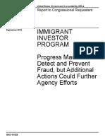 GAO Immigrant Investor Program