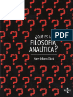 Que Es La Filosofia Analitica