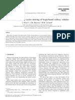 Control Strategies for Active Steering of Bogie-based Railway Vehicles