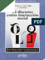 El Discurso Como Interaccion en La Sociedad.