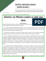 Examen y Rubrica de Español 2 Segundo Bimestre