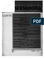 Revista Conservadora No. 37 Oct. 1963