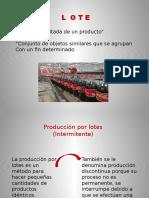 Producción Por Lote p