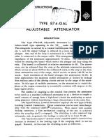 GR 874-GA Operation Manual, Applications, Specifications