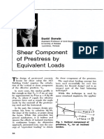 Shear Component of Presstress by Equivalent Loads