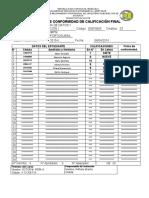 Acta de Conformidad de Calificaciones 2015ii