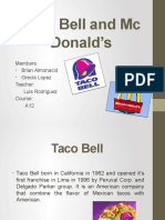 Taco Bell and Mc Donald's