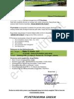 Surat Panggilan Tesk Pt.petrokimia Gresik