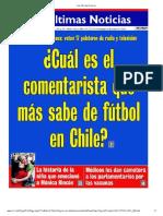 Cual Es El Comentarista Que Más Sabe de Fútbol Chileno