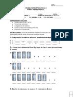 Prueba de Matemática Unidad 0