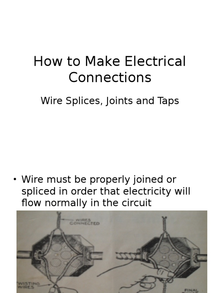 Wire Splices and Joints | Electrical Connector | Soldering