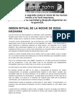 Orden Ritual de La Noche de Rosh Hashana _ Halajá Diaria Según La Opinión de Marán Rabí Ovadiá Yosef Zt_l