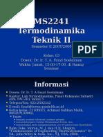 Termodinamika Teknik II Aturan Main Sem II 2006-07
