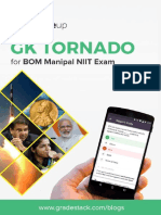 GK Tornado for BOM Manipal PO 2016 Exam