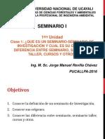 Seminario I Clase1 2016 II JMRCH