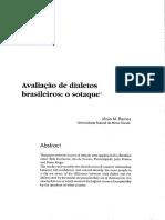 Avaliação de Dialetos Brasileiros, o Sotaque