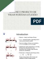 Análise e Projecto de Vigas Sujeitas a Flexão