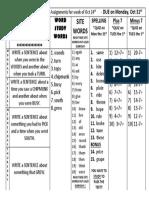 102316 -  weekly homework
