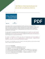 Nueva Versión Del Marco Internacional Para La Práctica Profesional de La Auditoría Interna