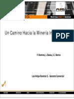TECNOLOGÍA ROBÓTICA Un Camino Hacia La Minería Inteligente
