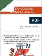 INTERACCIONES FARMACOLOGICAS DEPRESION