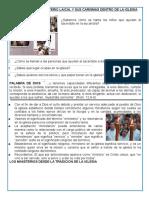 CONOCEMOS EL MINISTERIO LAICAL Y SUS CARISMAS DENTRO DE LA IGLESIA 3°- 2016