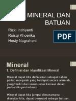 Mineral Dan Batuan Kelompok 7