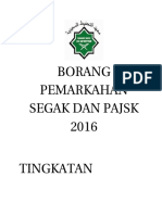 Borang Pemarkahan Segak Dan Pajsk 2016