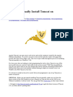 How to Manually Install Tomcat on Windows 7