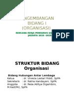 Program Bidang I - Organisasi - Hubungan Antar Lembaga IAPI Jakarta