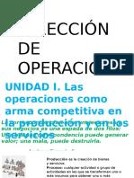 Dirección de Operaciones Octubre