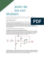 Simulación de Circuitos Con Multisim