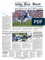 The Daily Tar Heel for Oct. 24, 2016